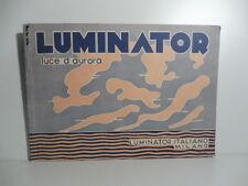 Luminator italiano, Milano, Pietro Chiesa, Luciano Baldessari, design italiano