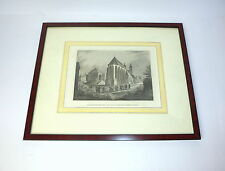 Incisione acciaio intorno 1890 Die Chiesa parrocchiale und der Vecchio romano
