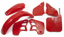 UFO 5 PIECE MOTOCROSS PLASTIC KIT HONDA CR 500 1989 OEM RED HOKITCR89
