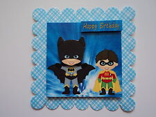 PK 2 BATMAN AND ROBIN  TOPPERS EMBELLISHMENTS FOR CARDS/CRAFTS
