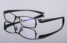 TR90 Metal myopia Eyeglass Frames Black Glasses Half Rim Rx able