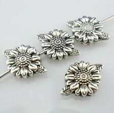 16Pcs Tibetan Silver Sunflower Flower Spacer Beads 8x13mm  Hole:1mm