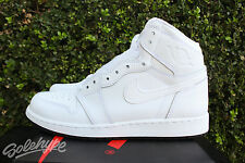 NIKE AIR JORDAN 1 RETRO HIGH OG GS 6 Y WHITE UNIVERSITY RED BLACK 575441 100