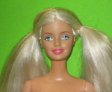NUDE BARBIE DOLL- BLOND HAIR -DARK RED LIPS-BELLY BUTTON BODY