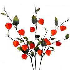 Set of 3 Artificial Chinese Lantern Sprays - Autumn Decorations - Physalis