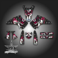 KAWASAKI KX 125 KX 250 2003 - 2008 GRAPHICS KIT DECALS EVIL JOKER BLACK PINK