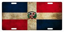 Rep Dominicana Flag Custom License Plate Dominican Emblem Dirty Version # 2