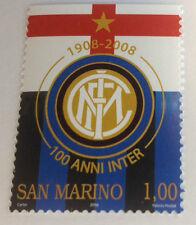 Francobollo Inter Internazionale commemorativo Centenario1908-2008 San Marino