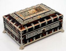 1800's EXQUISITE  Antique ANGLO-INDIAN Vizagapatam JEWELRY BOX 19th C. Chest