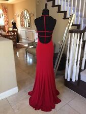 $358 NWT RED JVN BY JOVANI PROM/PAGEANT/FORMAL DRESS/GOWN #21053 SIZE 4