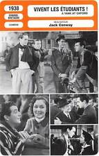FICHE CINEMA : VIVENT LES ETUDIANTS - Taylor,Leigh,Conway 1938 A Yank At Oxford