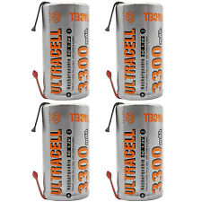 4PCS 3300mAh Sub C 1.2V Ni-MH Rechargeable Battery Soldering Tabs Power Tools RC