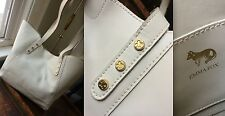 EMMA FOX WAKEFIELD SMOOTH LEATHER WING DESIGNER SHOPPER LG TOTE BAG WHITE $188