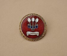 Vintage BDO Darts pin badge Glamorgan Wales British org. rare sports lapel