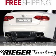 Rieger ABS Fits Audi A4 B8 S-Line Rear Skirt Extension 55513
