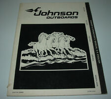 Owner´s Operator´s Manual Betriebsanleitung Johnson Outboards 2 Zylinder 2.8 KW!