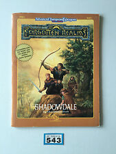 ADVANCED DUNGEONS & DRAGONS FORGOTTEN REALMS SHADOWDALE + MAPS 9247 FRE1