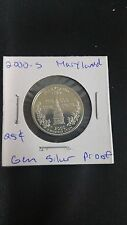 2000 S State Quarter MARYLAND Gem Proof Deep Cameo 90% Silver US Coin