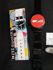 space age swatch wall clock swiss maxi 1995 boxed big large memphis don't gb 176