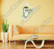Marijuana Smoking Cannabis Weed Pot Funny Wall Sticker Room Interior Decor 22""