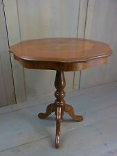 LA2/21 * Inlaid Wood Table Rococo Empire Style  Vintage Italy 1960´s