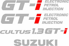 Suzuki Cultus Swift 1.3 GTI  Restoration Tailgate Side decals Stickers graphic