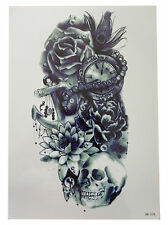 3D IMPERMEABILE Body Art Tatuaggio Temporaneo EXTRA LARGE Sheet 21x15cm