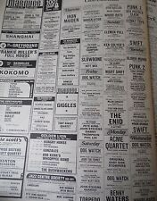 """THE SEX PISTOLS """"100 Club"""" Advert  also Iron Maiden The Clash The Damned  1976"""