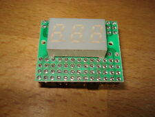 LED 7-Segment Display 9mm 3-fach AT-325A/B + Jumperplan 1994 f. alten PC vintage