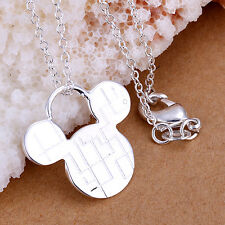 Charming NF Plated 925 Silver Mickey Necklace Pendant 2.1*2.2CM
