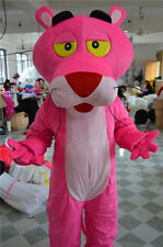 Halloween Pink Panther Mascot Costume Cartoon Fancy Dress Outfit  Adults Size