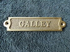 5+1/2 INCH BRONZE GALLEY SIGN PLAQUE BOAT SHIP SAILBOAT SAIL TUG