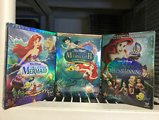 The Little Mermaid Trilogy 3 Movices 1 Price Return to The Sea Ariels Beginning