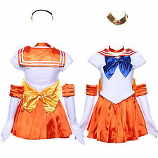 Sailor Moon: Venus Serena School Dress Set Woemn Costume for Holloween Party