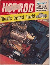 HOT ROD Magazine / September 1955 / World's Fastest Truck / Your Car's Brakes