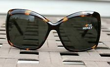 SPY OPTIC HONEY Vintage Tortoise w/ Grey/Green Lens Womans Sunglasses