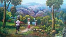 "Haitian Painting by the Master Georges Winscol 16"" X 20"" canvas Haiti Art Seller"