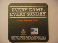 2010 Beer Coaster Mat ~*~ Every Game Every Sunday Only On DIRECTV ~ NFL FOOTBALL