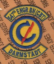 547th Combat Engineer Battalion Constabulary Darmstadt Germany patch tab