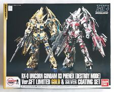 BANDAI HGUC 1/144 Unicorn Gundam 03 Phenex GFT limited gold & silver coating set