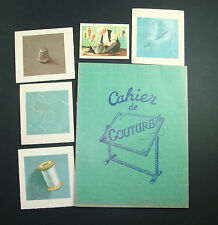 Z LOT SCOLAIRE ANCIEN CAHIER COUTURE IMAGES ECOLE BON POINT OLD SCHOOL ECRITURE