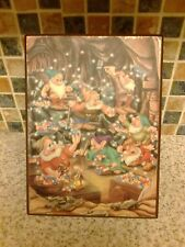 vintage disney the seven dwarfs jewellery box musical box mining jewels working