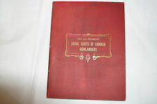 Canadian 5th Royal Scots Black Watch Highlanders Unit History Reference Book
