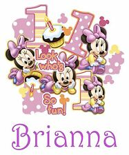 Personalized Custom Minnie Mickey Mouse 1st Birthday T Shirt Party Gift Name On