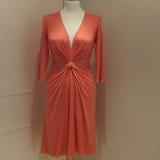 ISSA Salmon Pink Cocktail/Party Silk Jersey Dress Size 8UK/4US