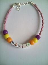 Holly chicas Nombre Pulsera de abalorios