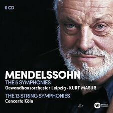 SINFONIEN 1-5/STREICHERSINFONIEN COLLECTOR'S EDITION 6CD NEU MENDELSSOHN
