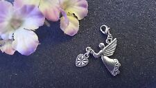Angel Holding Heart Dangle Charm for Living Lockets or Bracelets - US Seller