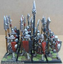 1996 Undead Armoured Skeletons Spears Citadel Pro Painted Warhammer Tomb Kings