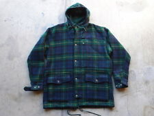 Vintag Polo Ralph Lauren Plaid Wool Duffle Coat Size M Made in USA Jacket RRL